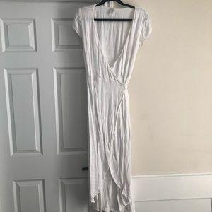 Nordstrom White Wrap Dress